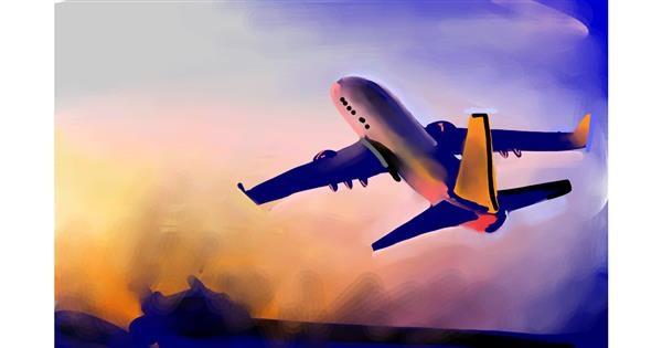 Airplane drawing by Rose rocket