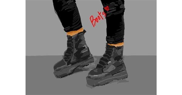 Boots drawing by RonNNIEE
