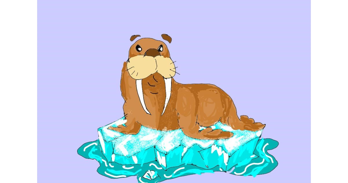 Walrus drawing by ThasMe13