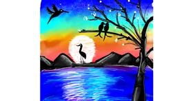 Bird drawing by Dream