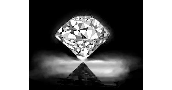 Diamond drawing by Mitzi