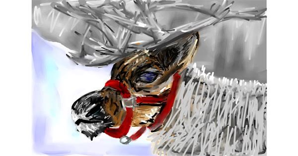 Reindeer drawing by Soaring Sunshine