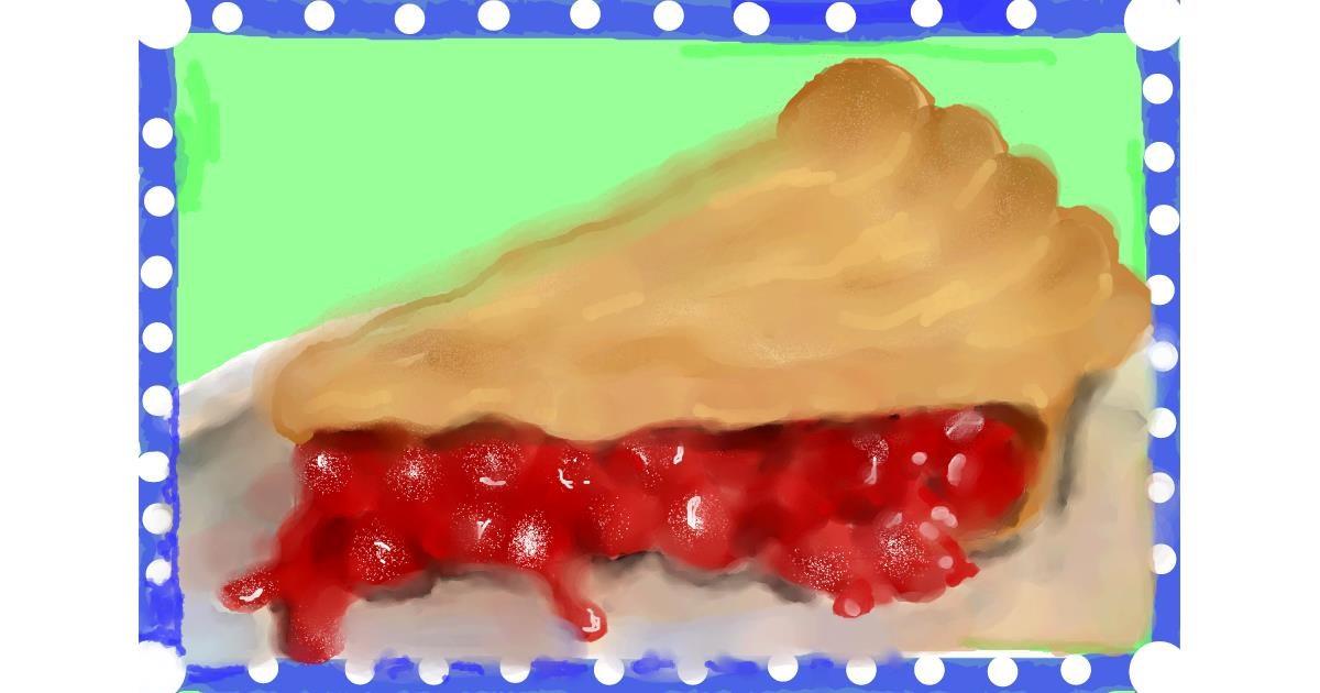 Drawing of Pie by Debidolittle