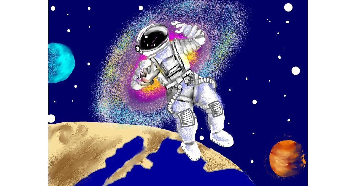 Astronaut drawing by SAM AKA MARGARET 🙄