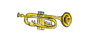 Trumpet drawing by moris