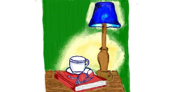 Lamp drawing by Mercy
