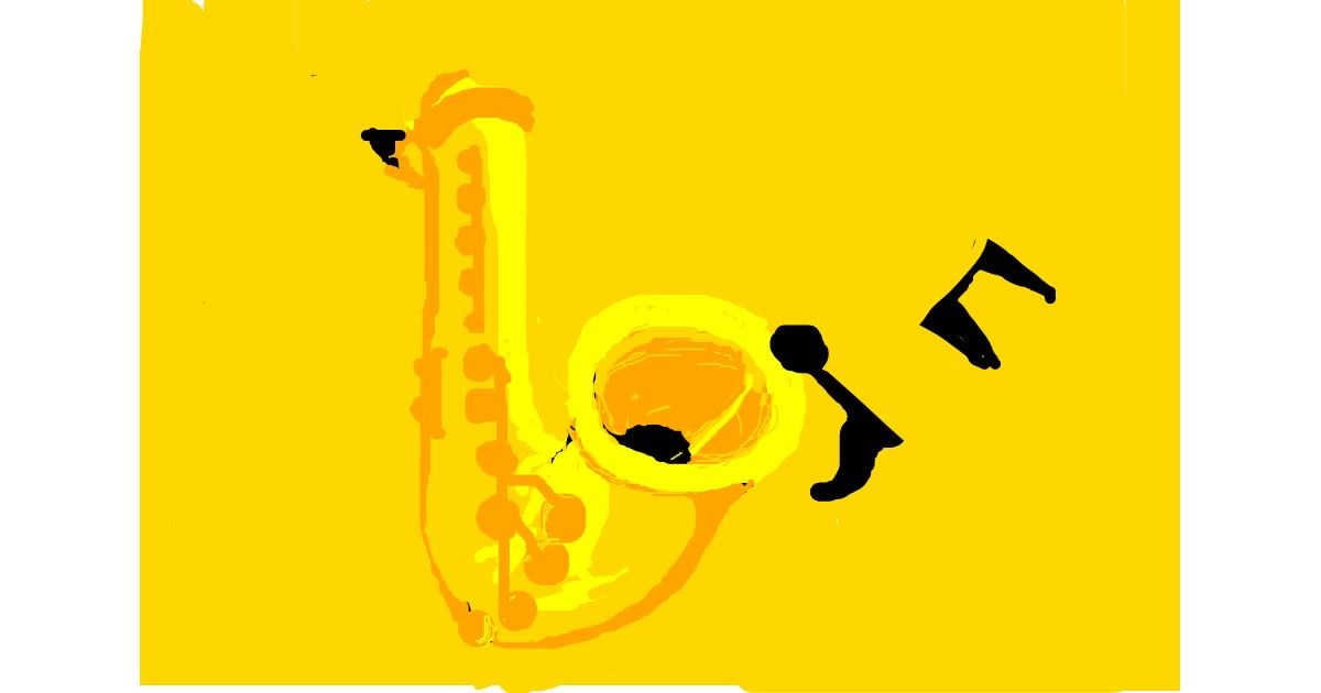 Saxophone drawing by sinimaginacion