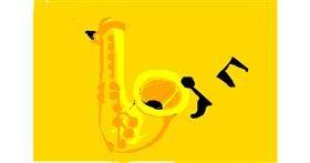 Drawing of Saxophone by sinimaginacion