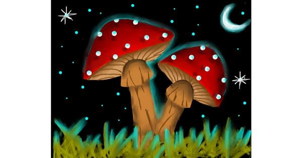 Mushroom drawing by Freny