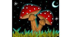 Drawing of Mushroom by Freny