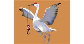 Crane (machine) drawing by Cec