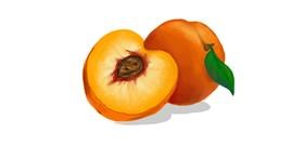 Peach drawing by Scott