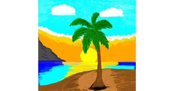 Palm tree drawing by Mighty Games YT