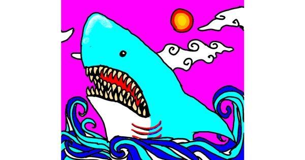Shark drawing by Psycho