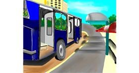 Bus drawing by Mitzi