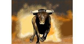 Bull drawing by SAM 🙄
