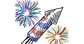 Fireworks drawing by anastasia