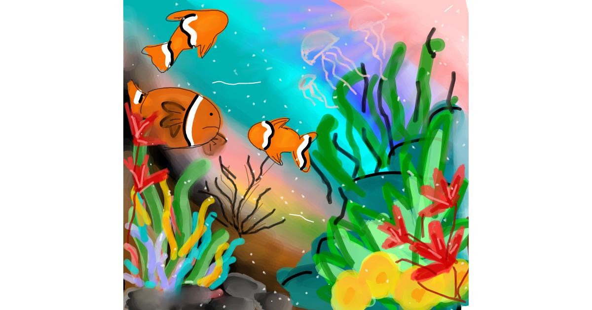 Clownfish drawing by Sufi