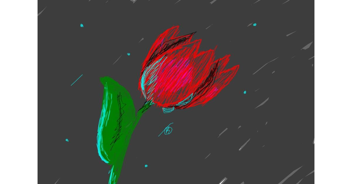 Flower drawing by 𒈟𒈟𒈟