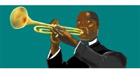 Trumpet drawing by Pinky