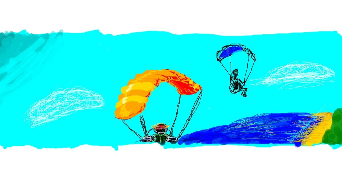 Parachute drawing by 7y3e1l1l0o§