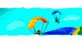 Drawing of Parachute by 7y3e1l1l0o§