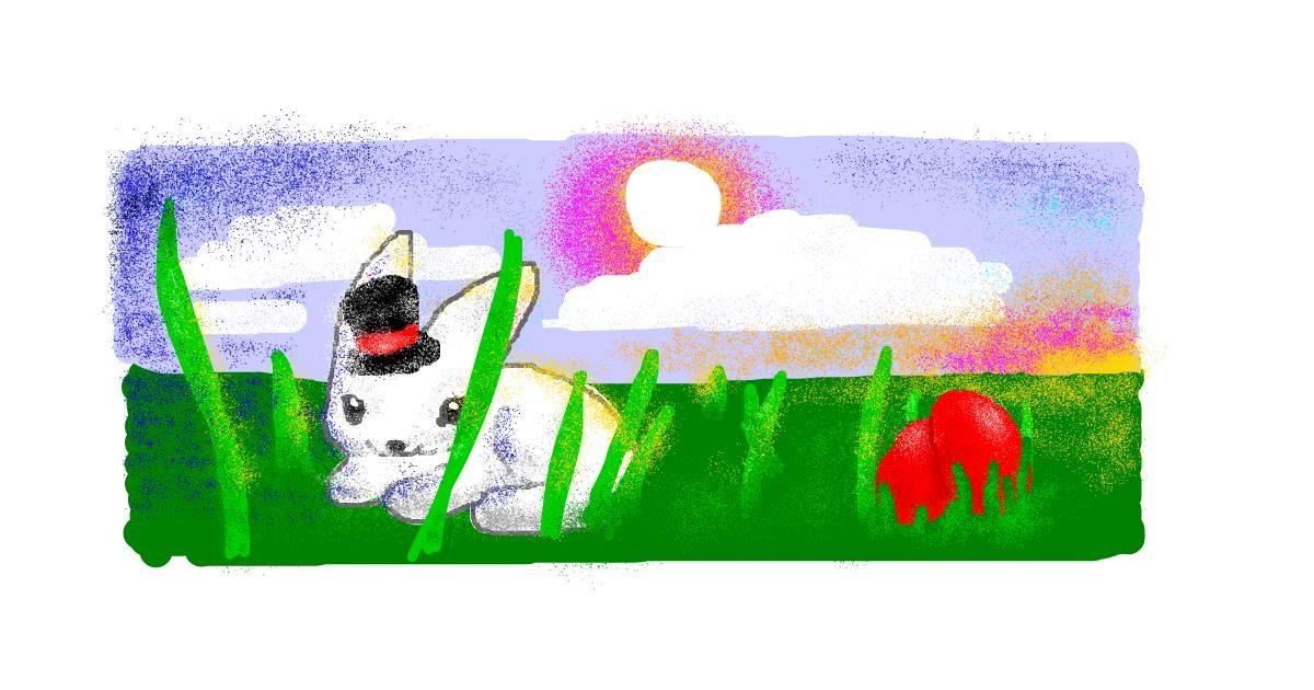 Rabbit drawing by SANTA