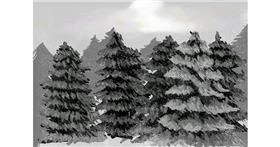 Drawing of Forest by Dada