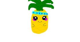 Pineapple drawing by Ali