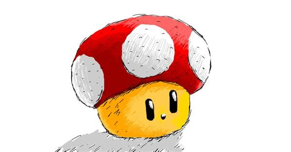 Mushroom drawing by Chartos