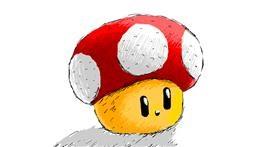Drawing of Mushroom by Chartos