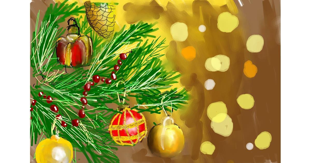 Christmas tree drawing by (luna lovegood)