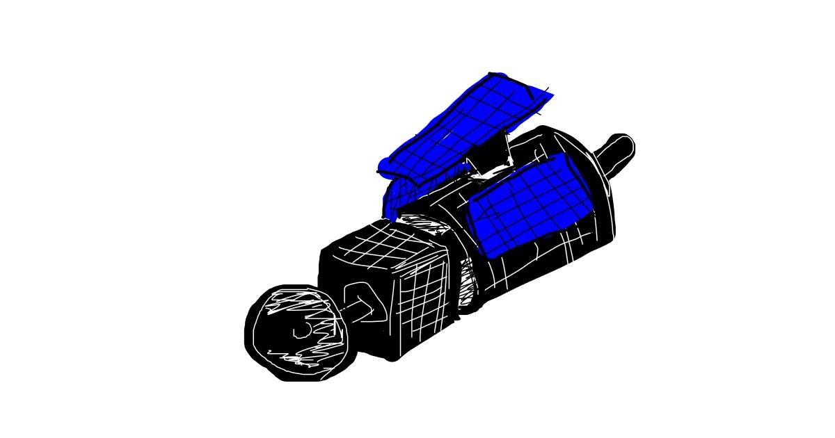 Satellite drawing by Thomas