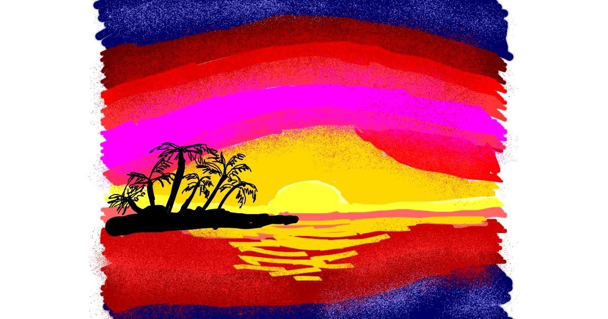 Island drawing by Cherri