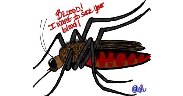Mosquito drawing by Ashley