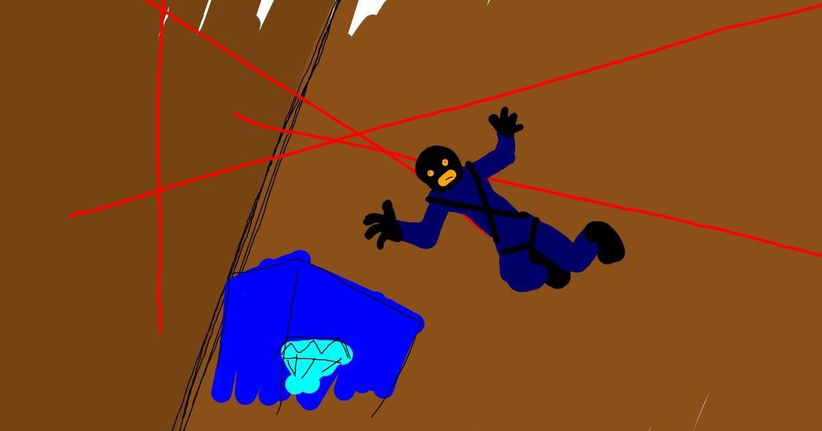 Burglar drawing by EVA
