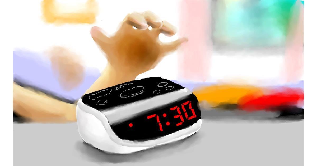 Alarm clock drawing by Zi
