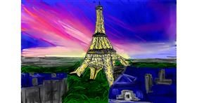 Eiffel Tower drawing by Soaring Sunshine