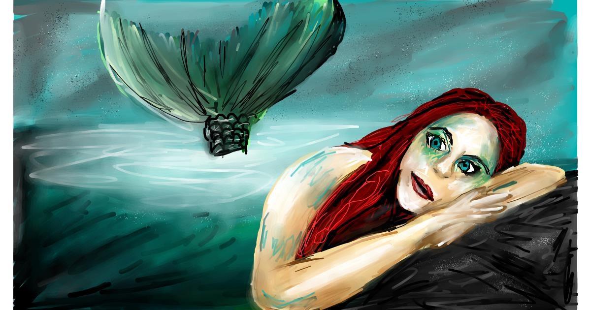 Mermaid drawing by Soaring Sunshine