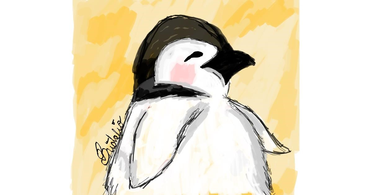 Penguin drawing by BRIDALIO🍌