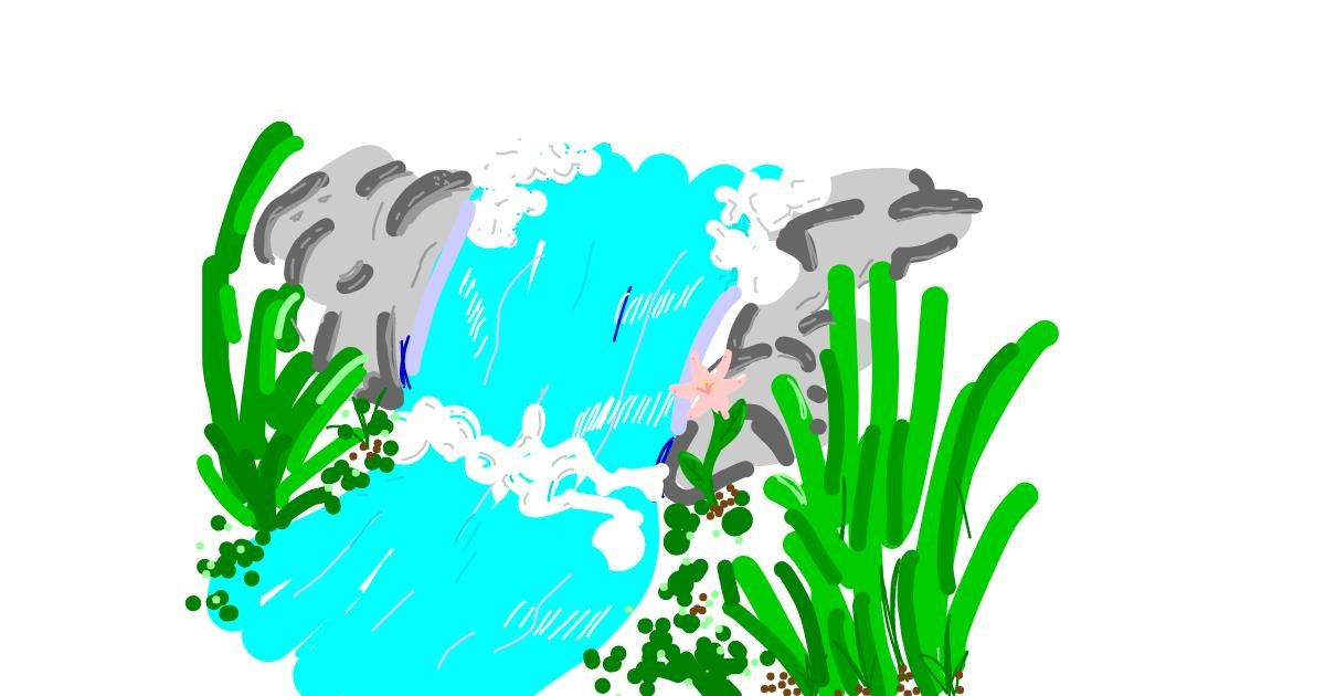 Waterfall drawing by 🌸