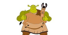 Shrek drawing by Rahi