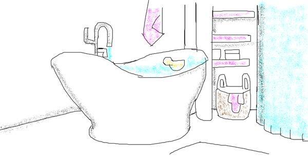 Bathtub drawing by Destiny