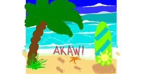 Beach drawing by Zerous 👩🎤