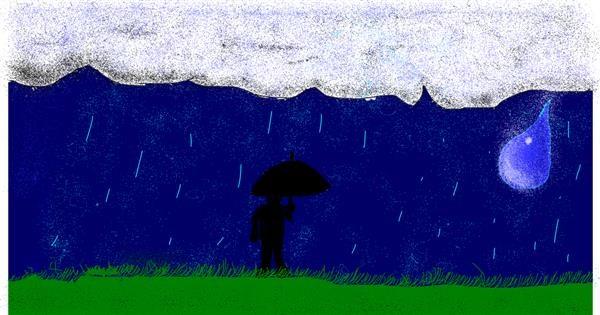 Rain drawing by MinecraftGamerLR