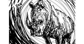 Rhino drawing by ena