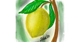 Lemon drawing by Iris