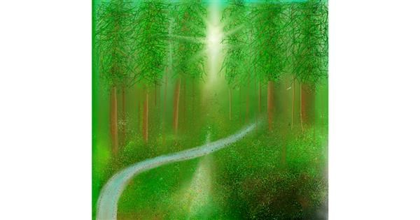 Forest drawing by 🇭🇰 Acem Lam