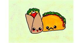 Burrito drawing by 🍌Banana🍌