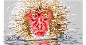 Monkey drawing by Sam